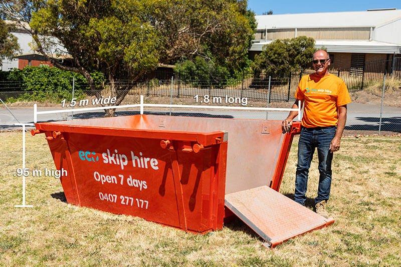 skip bin hire 2 cubic metres