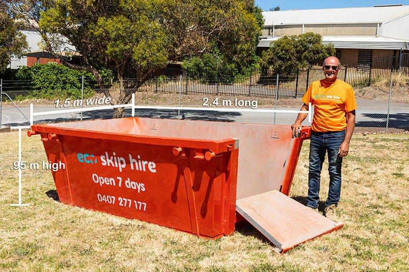 skip bin hire 3 cubic metres in Adelaide