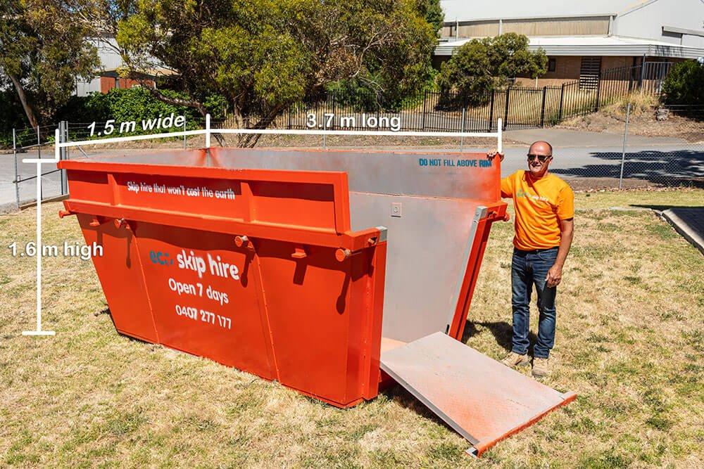 skip bin hire 8 cubic metres
